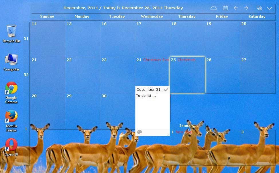Calendar Planner For Laptop : Desktop calendar